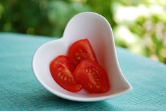 Heart tomatoes Stock Images