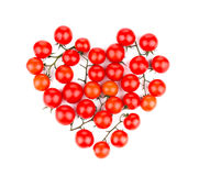 Heart from tomatoes. Stock Photo