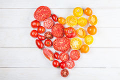 Heart from tomatoes Stock Photo