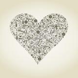 Heart the tool Royalty Free Stock Photo