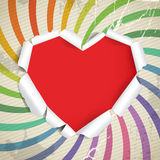 Heart of torn paper on vintage background Royalty Free Stock Photo