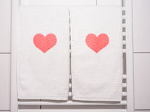 Heart on towel Stock Image