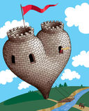 Heart tower Royalty Free Stock Image