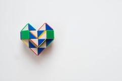Heart toy. On white background stock photo