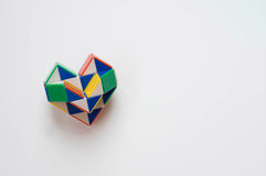 Heart toy. On white background stock photos