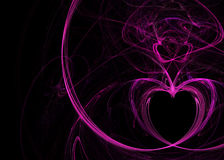 Heart Trace Flames Stock Photography