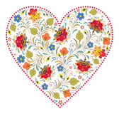 heart with traditional russian pattern Stock Images