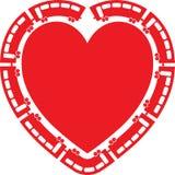 Heart Train vector illustration Stock Photography