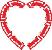 Heart Train vector illustration Royalty Free Stock Photo