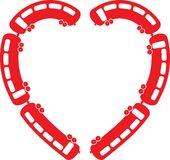 Heart Train vector illustration Royalty Free Stock Image