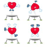 Heart on the trampoline. Stock Image
