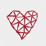 Heart on transparent background, valentines day Royalty Free Stock Photos