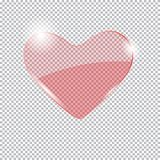 Heart on a transparent. Glass heart isolated on a transparent background Royalty Free Stock Photography