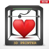 Heart transplant. 3D printer for the internal Royalty Free Stock Images