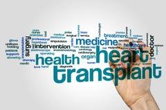 Heart transplant word cloud Stock Photos