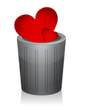 A heart in the trash Royalty Free Stock Photos