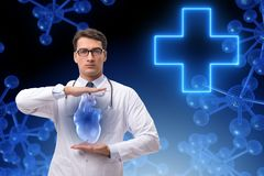 The heart treatment in telemedicine concept. Heart treatment in telemedicine concept stock image