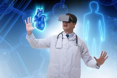 The heart treatment in telemedicine concept. Heart treatment in telemedicine concept stock photography