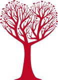 Heart tree stock illustration