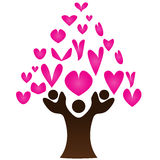 Heart tree. Illustration of heart tree design isolated on white background Royalty Free Stock Images