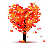 Heart tree. An image of a red tree with hearts as leaf Royalty Free Stock Photography
