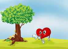 A heart and a tree Stock Images