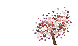 Heart Tree. Tree created from different colored hearts Stock Images
