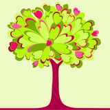 Heart tree. A spring tree made of hearts Stock Image