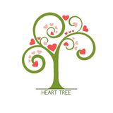 Heart tree. Abstract green tree with hearts Royalty Free Stock Image