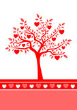 Heart tree background Royalty Free Stock Images