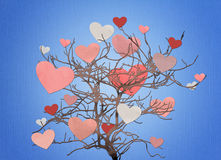 Heart tree background Stock Images