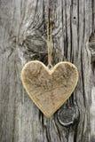 Heart on tree bark Stock Image