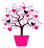 Heart tree and birds Royalty Free Stock Image
