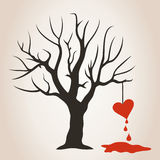 Heart on a tree Stock Photography