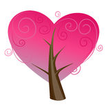 Heart tree design Stock Photos