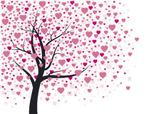 Heart tree design Stock Images