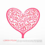 003 Heart Tree element for valentine day and wedding card decora. Heart Tree element for valentine day and wedding card decoration vector illustration eps10 Royalty Free Stock Photography
