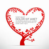 004 Heart Tree element for valentine day and wedding card decora Stock Photo