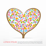 002 Heart Tree element for valentine day and wedding card decora Royalty Free Stock Photography