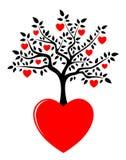 Heart tree growing from heart
