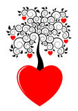 Heart tree growing from heart Royalty Free Stock Photo