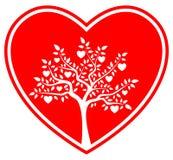 Heart tree in heart Stock Photos