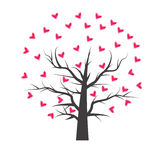 Heart tree with heart leaf. Of frame Royalty Free Stock Images