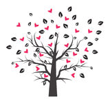 Heart tree with heart leaf Stock Image