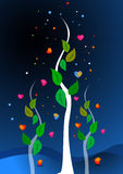 Heart and tree illustration Stock Photos