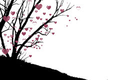 Heart tree. illustration on  background Royalty Free Stock Images