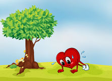 The heart and a tree Royalty Free Stock Photography
