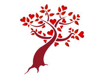 Heart tree illustration design Royalty Free Stock Photography
