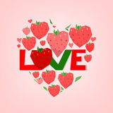 Heart tree. The illustration of graphic love lettering. Vector image Stock Image