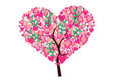 Heart Tree Isolated Stock Images